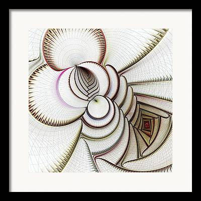 Algorithmic Abstract Mixed Media Framed Prints