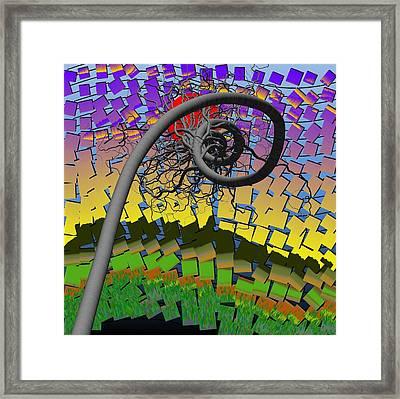 Algorithmic Art - Spiral Tree Framed Print