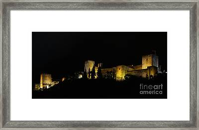 Framed Print featuring the photograph Alhambra At Night by Rudi Prott