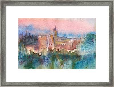 Alhambra De Granada Framed Print