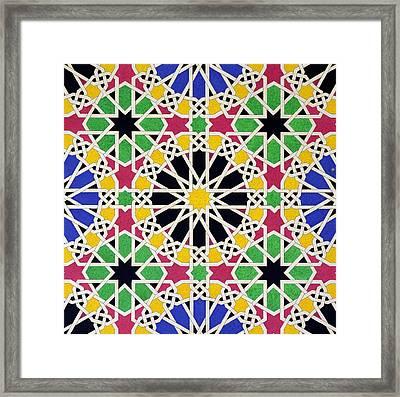 Alhambra Mosaic Framed Print by James Cavanagh Murphy