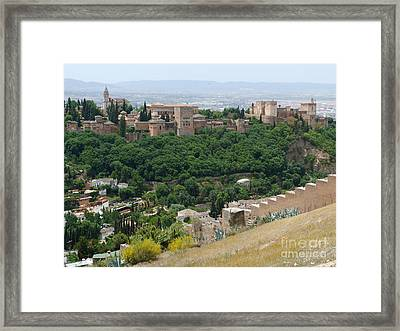 Alhambra Palace - Granada Framed Print by Phil Banks