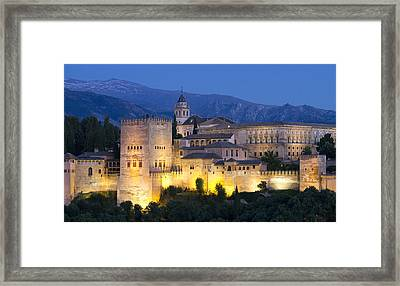 Framed Print featuring the photograph Alhambra Palace  by Nathan Rupert
