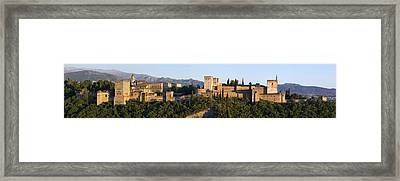 Framed Print featuring the photograph Alhambra Palace - Panorama by Nathan Rupert