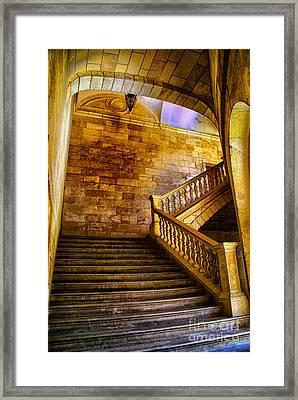 Alhambra Stairway Framed Print by Rick Bragan