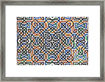 Alhambra Tile Detail Framed Print