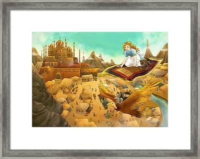 Ali Baba Cover Art Framed Print by Reynold Jay