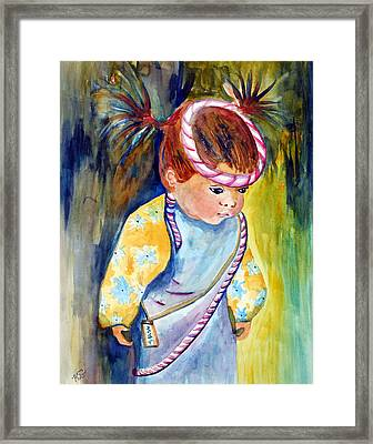 Ali Learns To Bow Framed Print