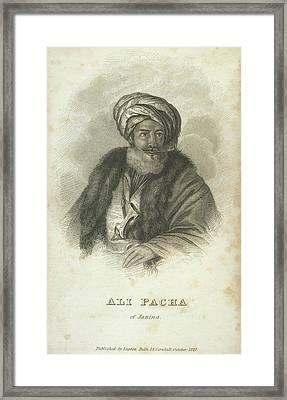 Ali Pacha Of Janina Framed Print by British Library