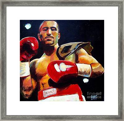 Framed Print featuring the painting Ali Tareh by Robert Phelps