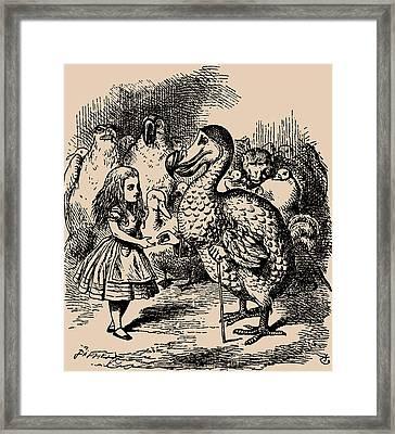 Alice And Dodo Birds Framed Print