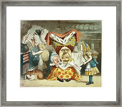 Alice And The Duchess Framed Print by British Library