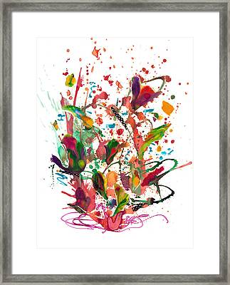 Alice Brought Flowers Framed Print