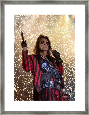 Alice Cooper Live Framed Print by Craig Sterken