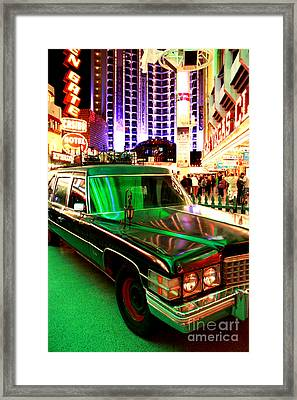 Alice Cooper's Hearse Framed Print