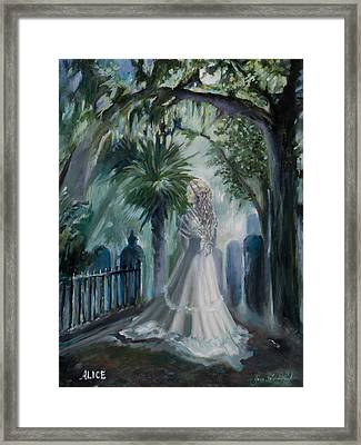 Alice Flagg - The Ghost Of Murrells Inlet Framed Print by Jane Woodward