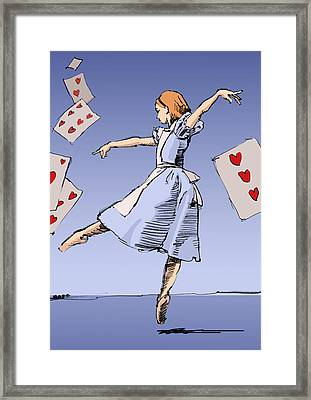 Alice Framed Print by H James Hoff