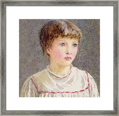 Alice Framed Print by Helen Allingham