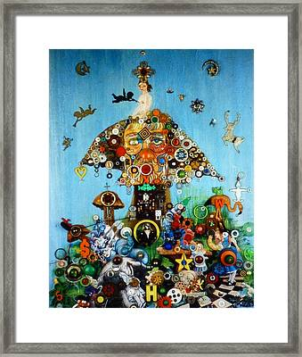 Alice In Blunderland Framed Print by Douglas Fromm