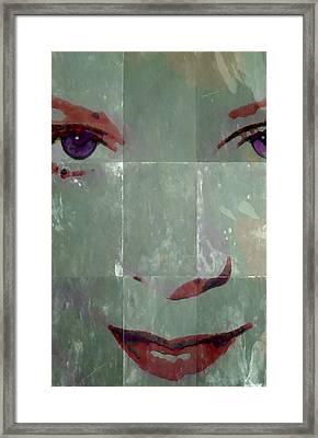 Alice In Green Framed Print