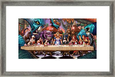 Alice In Wonderland 06a Framed Print