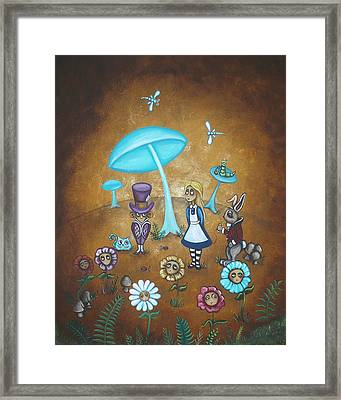 Alice In Wonderland - In Wonder Framed Print by Charlene Murray Zatloukal