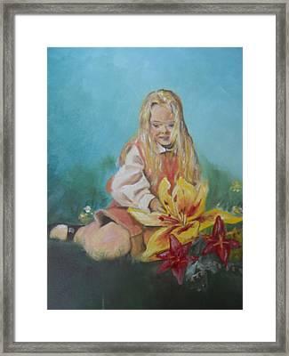 Alice In Wonderland Framed Print by Joyce Reid