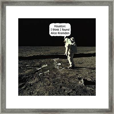 Alice Kramden On The Moon Framed Print