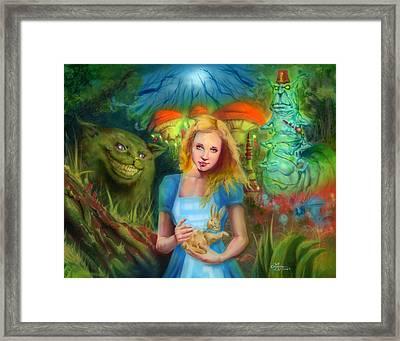 Alice  Framed Print by Luis  Navarro
