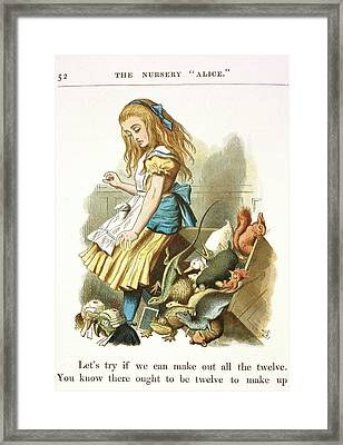 Alice Upsets The Jury-box Framed Print