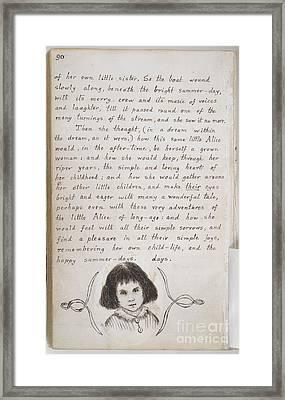 Alice's Adventures Under Ground Framed Print by British Library
