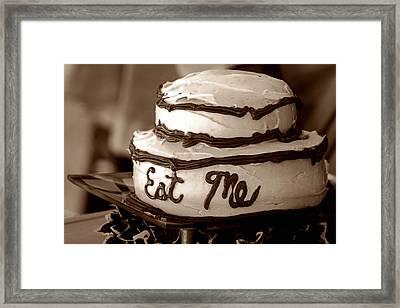 Alice's Eat Me Cake  Framed Print