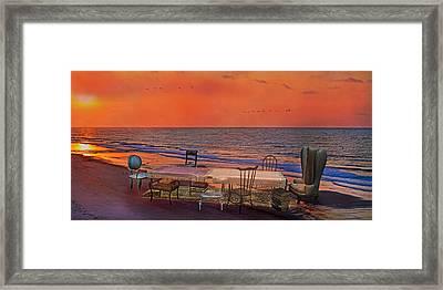Alice's Topsail Island Tea Framed Print by Betsy Knapp