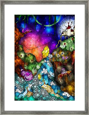 Alice's Wonderland Framed Print by Mandie Manzano