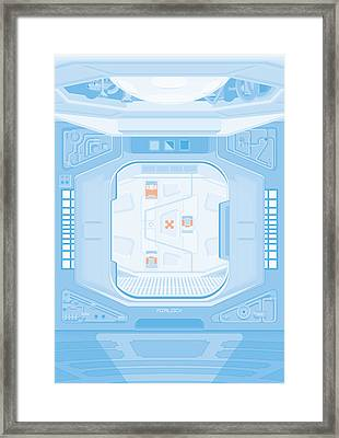 Alien 1979 Poster - Airlock Framed Print by Peter Cassidy