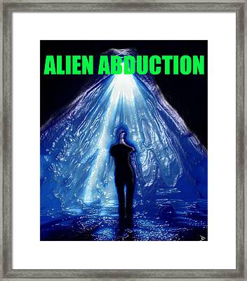 Alien Abduction Artwork With Print Framed Print by David Lee Thompson
