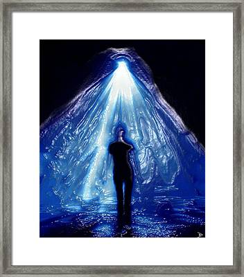Alien Abduction Original Work Framed Print by David Lee Thompson