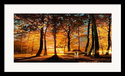 Bizarre Color Framed Prints