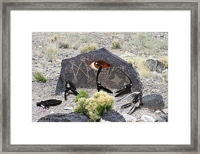 Alien Battle Framed Print by Greg Wells