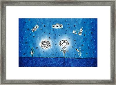 Alien Blue Framed Print