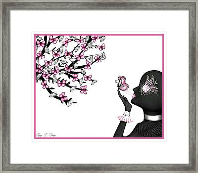 Alien Butterfly Framed Print by Ginger Guillot