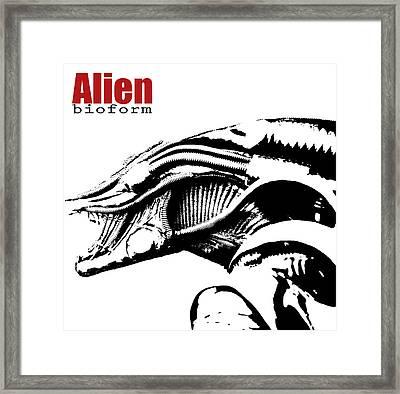 Alien Character  Framed Print
