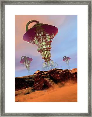 Alien City Framed Print by Victor Habbick Visions