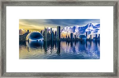Alien Cityscape  Framed Print by Arlene Sundby