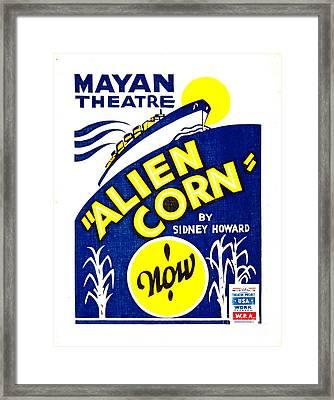 Alien Corn 1938 Framed Print by Padre Art