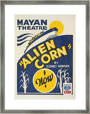 Framed Print featuring the painting Alien Corn by American Classic Art