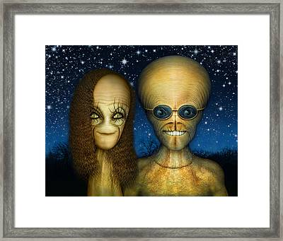 Alien Couple Framed Print