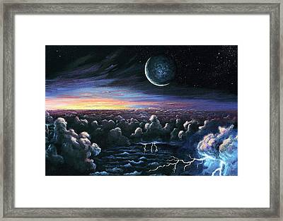 Alien Dawn Framed Print by Richard Bizley