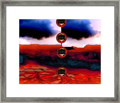 Alien Deposit Framed Print by Dane Ann Smith Johnsen