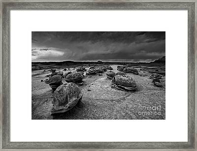 Alien Eggs At The Bisti Badlands Framed Print by Keith Kapple